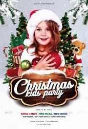 Christmas Kids Party PSD Flyer Template