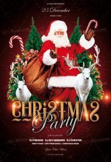 Christmas Party PSD Flyer Template