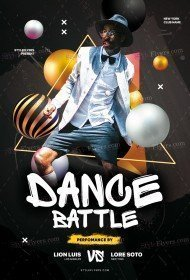 Dance Battle PSD Flyer Template