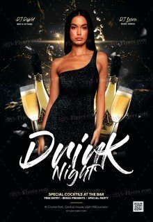 Drink Night PSD Flyer Template