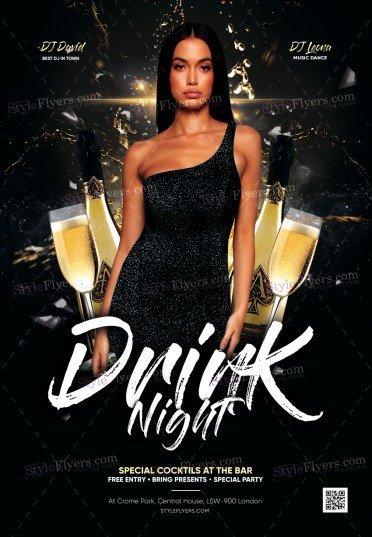 Drink Night PSD Flyer Template