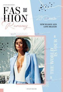 Fashion Runway PSD Flyer Template