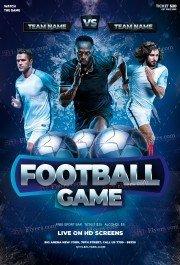 Football Game PSD Flyer Template
