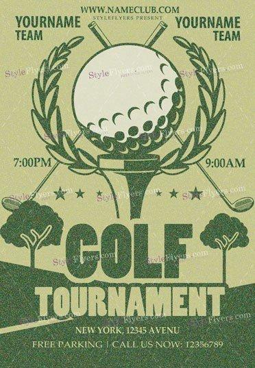Golf PSD Flyer Template