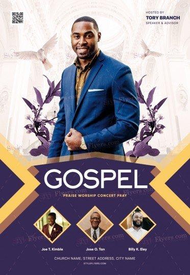 Gospel PSD Flyer Template