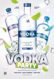 Vodka Party PSD Flyer Template