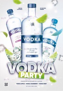 Vodka Party PSD Flyer Template