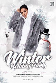 Winter Holiday Party PSD Flyer