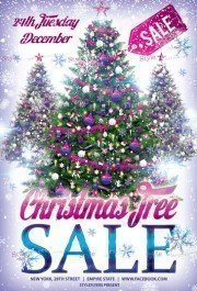 Сhristmas Tree Sale PSD Flyer Template