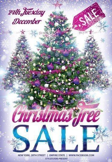 Сhristmas Tree Sale PSD Flyer Template