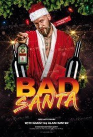 Bad Santa PSD Flyer Template