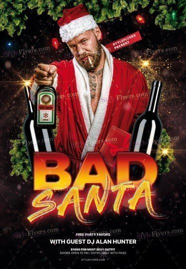 Bad Santa PSD Flyer Template