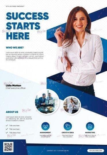 Corporate PSD Flyer Template