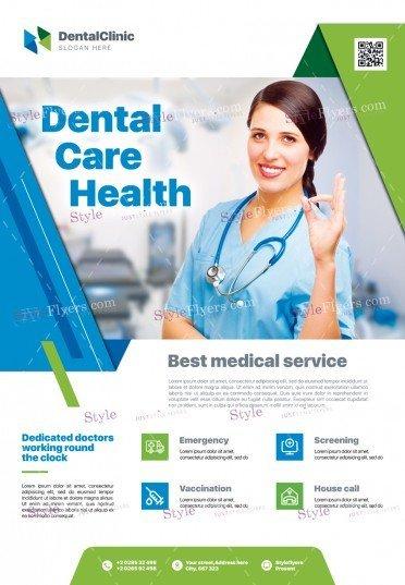 Dental Care Health PSD Flyer Template