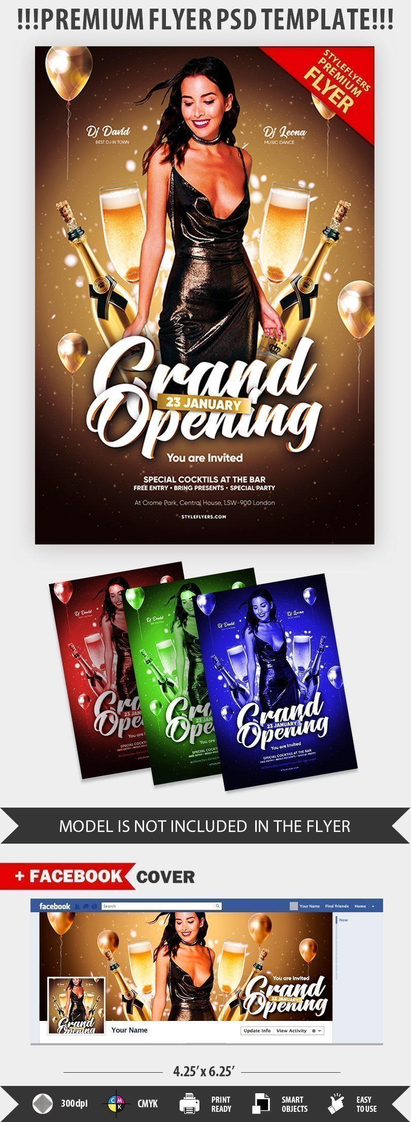 Grand Opening PSD Flyer Template (2)