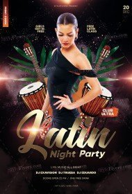 Latin Night Party PSD Flyer Template