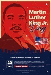 Martin Luther King Jr PSD Flyer Template