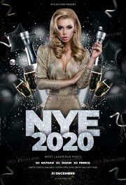 NYE2020 PSD Flyer Template