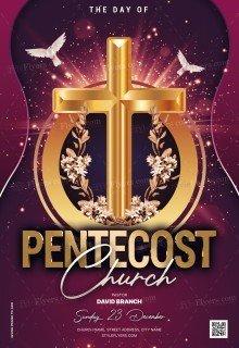Pentecost Church PSD Flyer Template