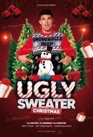 Ugly Sweater Christmas PSD Flyer Template