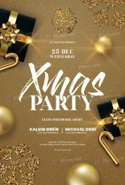 Xmas Party PSD Flyer Template