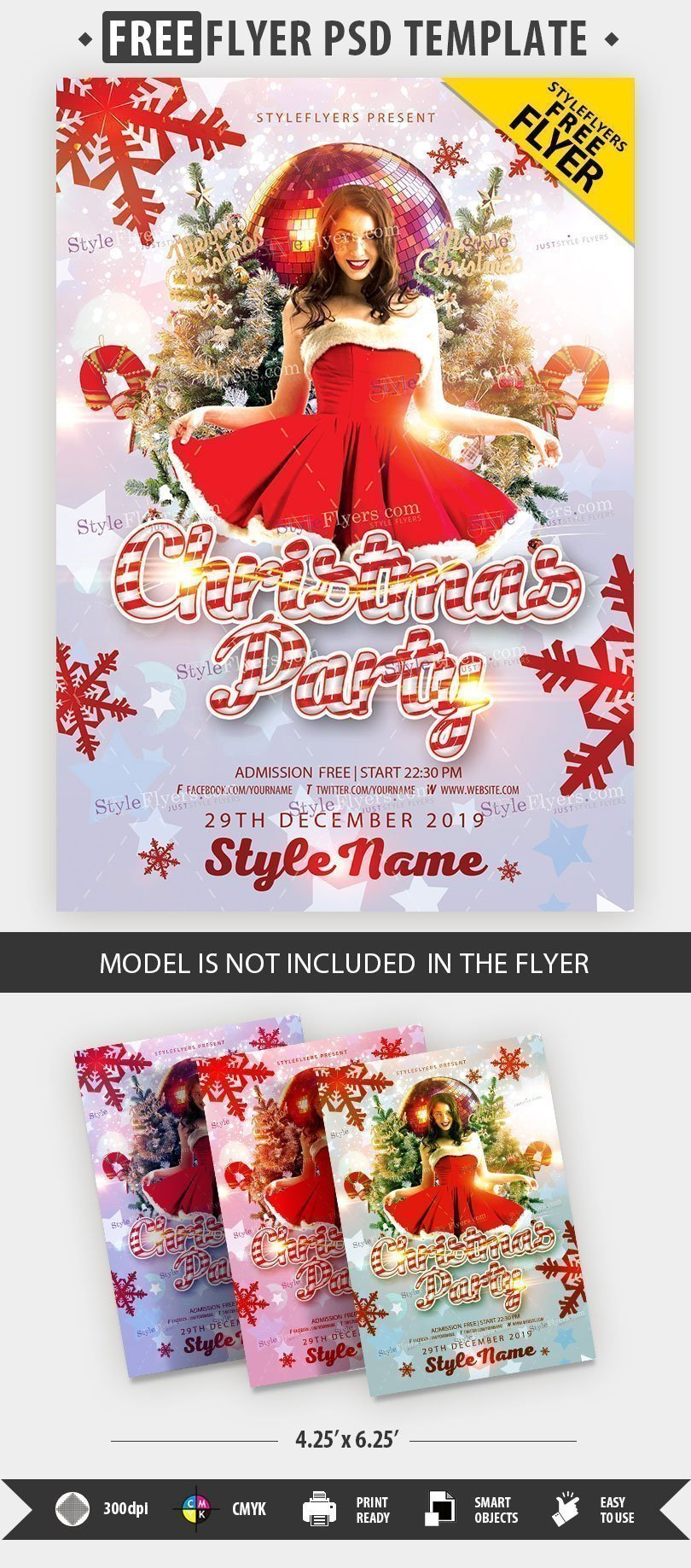 Christmas Party FREE PSD Flyer Template Free Download Styleflyers