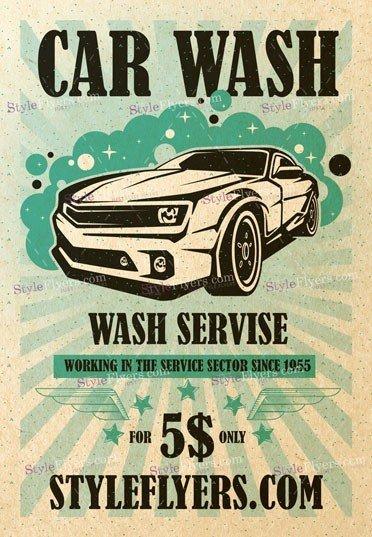 Сar Wash PSD Flyer Template