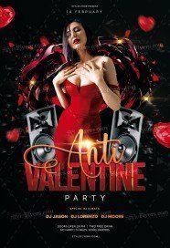 Anti Valentine Party PSD Flyer Template