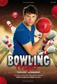 Bowling Night PSD Flyer Template