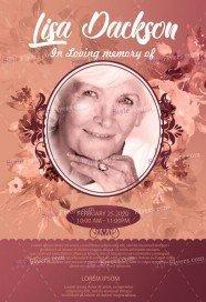 Funeral Flyer PSD Template