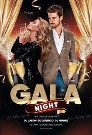 Gala Night PSD Flyer Template