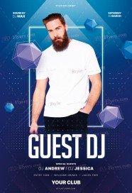 Guest DJ PSD Flyer Template