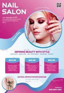 Nail Salon PSD Flyer Template