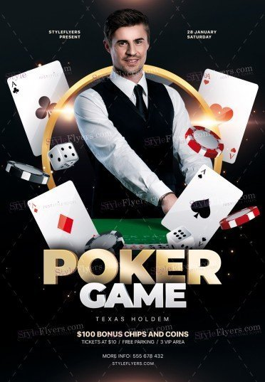Poker Game PSD Flyer Template