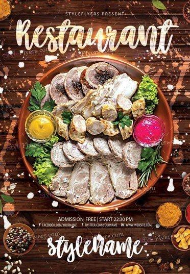Restaurant Flyer PSD Template