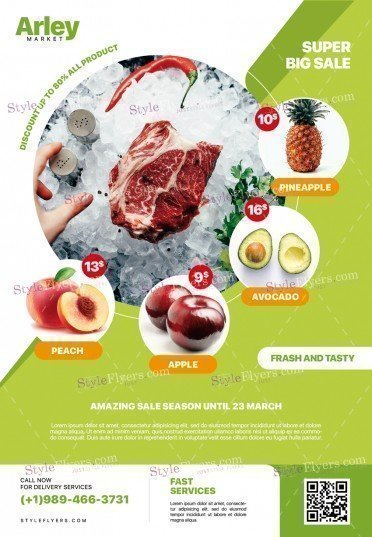 Supermarket Product Promotion PSD Flyer Template