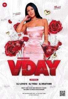 V-Day PSD Flyer Template