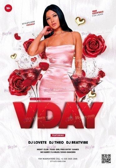 V-Day PSD Flyer Template
