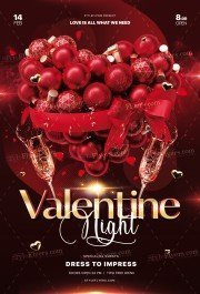 Valentine Night PSD Flyer Template
