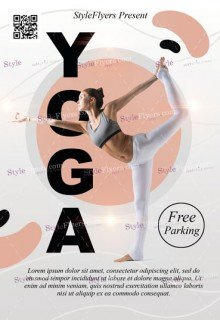 Yoga PSD Flyer Template