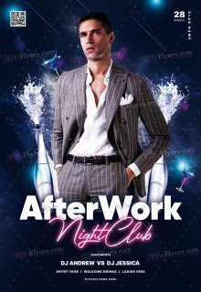 After-work Night Club PSD Flyer