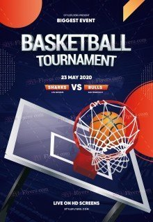 Basketball Tournament PSD Flyer