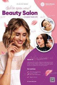 Beauty Salon PSD Flyer Template