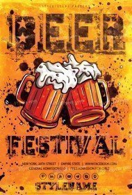 Beer Festival Flyer Template