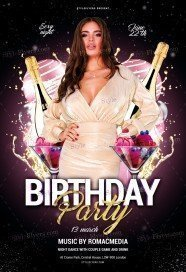 Birthday Party PSD Flyer Template