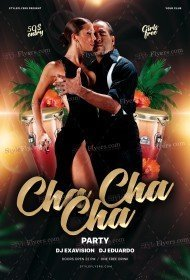 Cha Cha Cha Party PSD Template