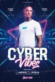 Cyber Vibes PSD Flyer