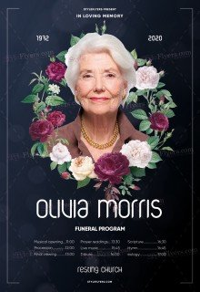 Funeral Program PSD Flyer