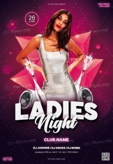 Ladies NNight PSD Flyer Template