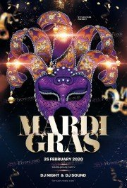Mardi Gras PSD Flyer